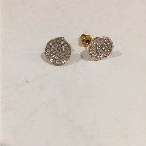 Beautiful gold Rhine stone ✨ earrings from Tilly's